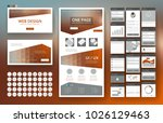 website template  one page... | Shutterstock .eps vector #1026129463