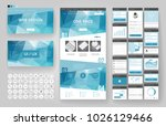 website template  one page... | Shutterstock .eps vector #1026129466