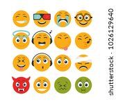set of emoticon character | Shutterstock .eps vector #1026129640