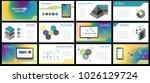 business presentation templates.... | Shutterstock .eps vector #1026129724