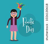 people celebration fools day  | Shutterstock .eps vector #1026130618