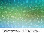 light blue  green vector... | Shutterstock .eps vector #1026138430