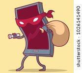 burglar phone vector... | Shutterstock .eps vector #1026141490