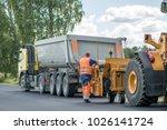 road construction workers... | Shutterstock . vector #1026141724