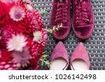 wedding heels vs bridal...   Shutterstock . vector #1026142498