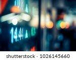 display of stock market quotes...   Shutterstock . vector #1026145660