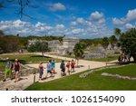 tulum  mexico   february 3 2018 ... | Shutterstock . vector #1026154090