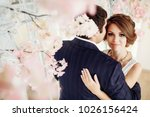 groom and bride posing and... | Shutterstock . vector #1026156424