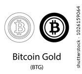 black bitcoin gold... | Shutterstock .eps vector #1026159064