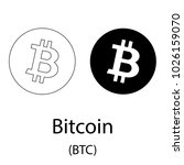 black bitcoin cryptocurrency... | Shutterstock .eps vector #1026159070