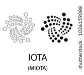 black iota cryptocurrency... | Shutterstock .eps vector #1026159088
