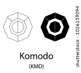 black komodo cryptocurrency... | Shutterstock .eps vector #1026159094