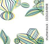 falling geometric figures.... | Shutterstock .eps vector #1026164848