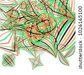 falling color figures. concept... | Shutterstock .eps vector #1026165100