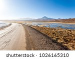 chilean landscape  dirt road... | Shutterstock . vector #1026165310