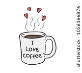 coffee. a mug with coffee. hot... | Shutterstock .eps vector #1026166876