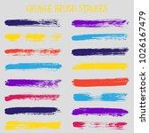 modern watercolor daubs set ...   Shutterstock .eps vector #1026167479