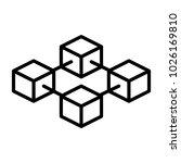 blockchain line icon.  96x96... | Shutterstock .eps vector #1026169810