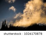 smoke fog pluming over pine... | Shutterstock . vector #1026170878