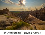 badlands national park south... | Shutterstock . vector #1026172984