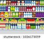 horizontal background  store... | Shutterstock . vector #1026173059