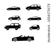cars silhouette vector | Shutterstock .eps vector #1026173173