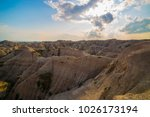 badlands national park south... | Shutterstock . vector #1026173194