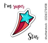 fashion patch element with... | Shutterstock . vector #1026173458