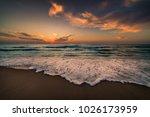 sunrise at hammamet. tunisia ... | Shutterstock . vector #1026173959