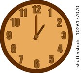 cartoon vector wall clock. | Shutterstock .eps vector #1026177070