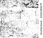 grunge black and white pattern. ... | Shutterstock . vector #1026180679