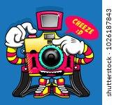 camera smile film street... | Shutterstock .eps vector #1026187843