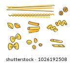 italian pasta set  vector...   Shutterstock .eps vector #1026192508