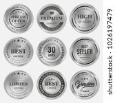 silver labels and badge seal... | Shutterstock .eps vector #1026197479