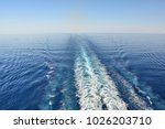 wake of the cruise ship on... | Shutterstock . vector #1026203710