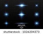 set of light effects  lights... | Shutterstock .eps vector #1026204373