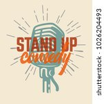 lettered text stand up comedy.... | Shutterstock .eps vector #1026204493