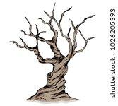 leafless tree  dead tree  dry... | Shutterstock .eps vector #1026205393