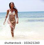 Beautiful Black Woman In Bikin...