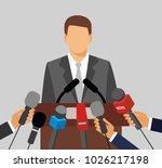 live report concept. press...   Shutterstock .eps vector #1026217198