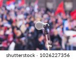 protest. public demonstration.... | Shutterstock . vector #1026227356