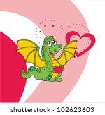 dragon greeting card   Shutterstock .eps vector #102623603