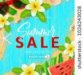 summer sale banner template | Shutterstock .eps vector #1026243028