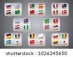 vector flags of the country.... | Shutterstock .eps vector #1026245650