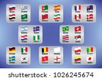 vector flags of the country.... | Shutterstock .eps vector #1026245674