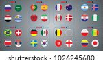 vector flags of the country.... | Shutterstock .eps vector #1026245680