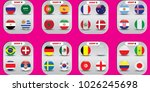 vector flags of the country.... | Shutterstock .eps vector #1026245698
