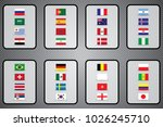 vector flags of the country.... | Shutterstock .eps vector #1026245710