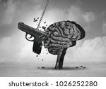 gun violence and mental illness ... | Shutterstock . vector #1026252280