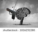gun violence and mental illness ... | Shutterstock . vector #1026252280